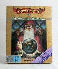 Sierra King's Quest 3 KQ3 - Dual Pack MS-DOS EGA 1986 - Big Box PC SEALED