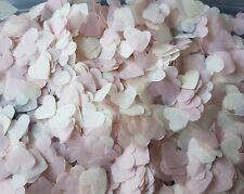 Marfil Y Polvo/rubor corazones de color rosa pastel Confeti Boda Mezcla/2 puñados Eco