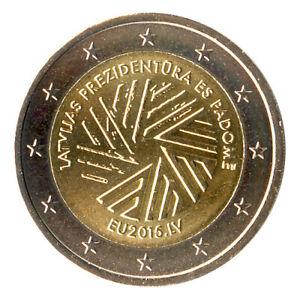 Sondermünzen Lettland: 2 Euro Münze 2015 EU-Ratsvorsitz Sondermünze Gedenkmünze