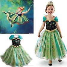 Child Girl Princess Anna Gift Queen Cosplay Costume Fancy Dress Dance Ball Crown