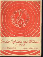 """Hans Lang :  """" In der Cafeteria von Milano """""""
