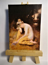 He loves me he loves me not ACEO Original PAINTING by Ray Dicken a Robert Fowler