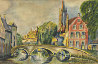 R. R. Villiers - Early 20th Century Watercolour, Bridge