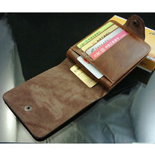 Mens leather Wallet Pockets ID credit Card holder Clutch Bifold money Clip purse