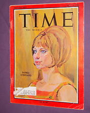 """TIME MAGAZINE - APRIL 10, 1964 - STREISAND ON COVER - """"FUNNY GIRL"""" ARTICLE"""