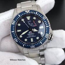 Orient Triton Automatic 200M Sapphire Crystal Mens Blue Dial Watch RA-EL0002L00B