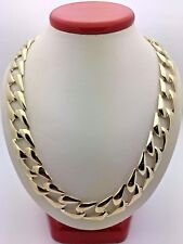 """14k Yellow Gold Cuban Link Chain Necklace Light Weight 22"""" 13mm 49-50 grams"""