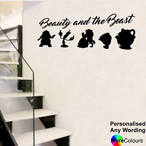 Beauty and the Beast Disney Style Wall Art Sticker Personalised Decal Window