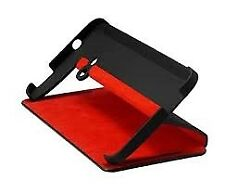 HTC Flip Case Cover with Built-In Stand for HTC One - Black / Red