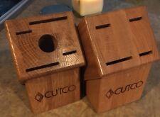 Cutco Cutlery/Knife Oak Wood Butcher Blocks 5 Slot And 4 Slot