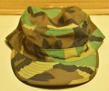 US Military Issue Woodland Camo Camouflage Uniform Cap Hat Size 7