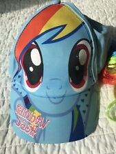 d6eada622c1 My Little Pony Girls Hat Baseball Cap Rainbow Dash Size S M EUC
