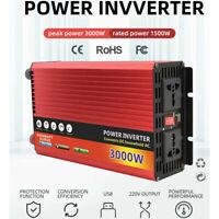 3000W Spannungswandler Sinus Wechselrichter Inverter 12V Auf 220V DHL