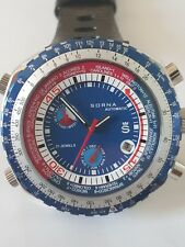 Sorna automatic watch tachymeter scale blue version new unworn