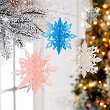 3D Paper Snowflake Room Hanging Drop Christmas Festival Decor Props Supplies 6PC