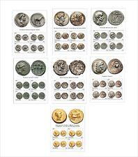 ROMAN COINS  13 SOUVENIR SHEETS UNPERFORATED COIN CEZAR