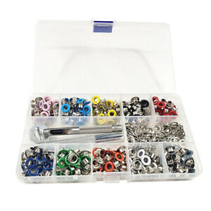 500 Pieces Grommets Kit Metal Eyelet with Installation Tools for DIY Craft