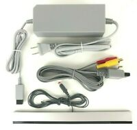 Nintendo Wii Power Cord, AV Cable and Sensor Bar Bundle - Complete Hookups - NEW