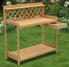 New listing Wood Planter Potting Bench Outdoor Garden Planting Work Station Table Usa New