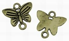 10 Antique Bronze Butterfly Charms Connectors 13 x 14mm Steampunk NF Butterflies