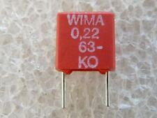 10 condensateurs Wima MKS2 0,22uF 220nf 63V