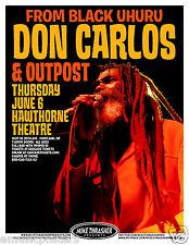 DON CARLOS & OUTPOST 2013 PORTLAND CONCERT TOUR POSTER-Black Uhuru, Reggae Music