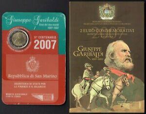 San Marino - Folder 2 euro fior di conio (Giuseppe Garibaldi), 2007