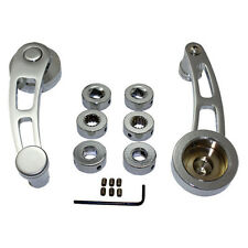 Chrome Aluminum Window Cranks Ford Chevy Mopar Round Square Spline Adapter 4-1/4