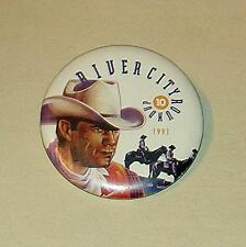 1991 OMAHA RIVER CITY ROUNDUP 10 COLLECTIBLE BUTTON PIN BADGE