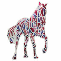 Big Large Horse Animal Sequined Embroidered Sew Iron On Patches Badge Fabric DIY