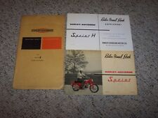 1963 Harley Davidson Aermacchi 250cc Sprint H Owner Manual User Guide ORIGINAL