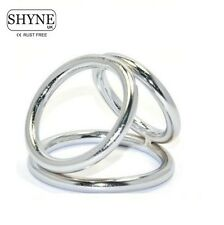 Triple Metal P Ring Cage Impotencee Erecction Urethral Rings