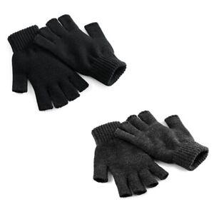 Beechfield Herren Damen Fingerlose Handschuhe CB491 Fingerless Gloves 2 Größen