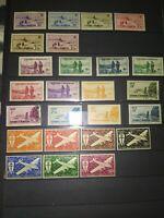 Série 25 TIMBRES COLONIES FRANCAISES SAINT PIERRE ET MIQUELON N** / stamp