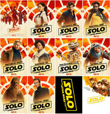 12 Solo:A Star Wars Story Movie 2018 Mirror Surface Postcard Promo Poster Card c