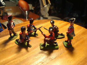 Painted French Grenaders & Highlanders approx 54mm scale.