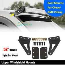 "Pair 70519 Windshield 52"" Curved LED Light Bar Mounting Brackets Fit 07-13 GMC"