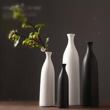 Modern Black White Ceramic Decorative Tabletop Centerpieces Vase Flower Pot