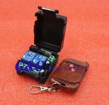 Dc 12v 10a Relay 2ch Wireless Rf Remote Control Switch Transmitter Receiver Car