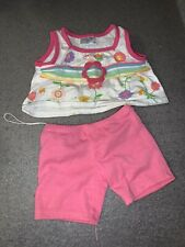 Build a Bear Clothes - Girls Outfit with White Tank top and Pink Leggings