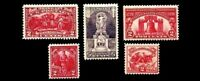 1926 - 1927 USPS YEAR SET OF 5 COMMEMORATIVE STAMPS Mint Never hinged OG