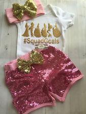 Squad Goals Princess Glitter Gerber Onesie ONLY, Any Size, Disney Princess