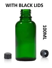 140pcs 100ml Green Glass Bottle for Essential Oils/Aromatherapy Blends with lids