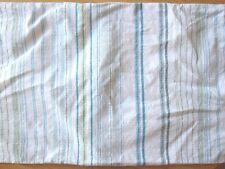 Tommy Bahama Pillow Sham Stripe Blue Green White Textured Cotton King Sz 19 x 34