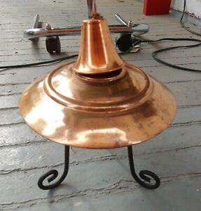 Copper Bowl Garden Torch w/ stand