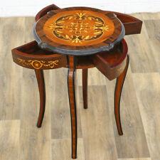 ITALIAN Marquetery TABLE ca.78x58cm STILMÖBEL - Sternförmiger ★-MARKETERIE TISCH