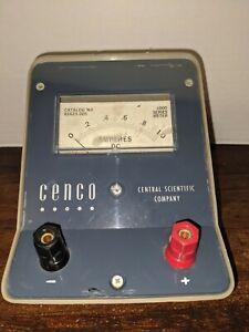 Vintage D.C. Amperes Meter CENCO Central Scientific Company CAT. NO. 82423-005