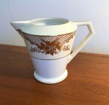 Vintage Noritake Art Deco Milk Jug Gilt Flowers On Cream