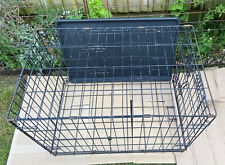 Dog Pet Kennel Cage Black Med. Metal Collapsible Easy Access Doors Gated Windows
