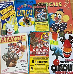 LOT of vintage Circus Posters